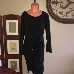 NWOT VENUS BLACK W/sequence dress